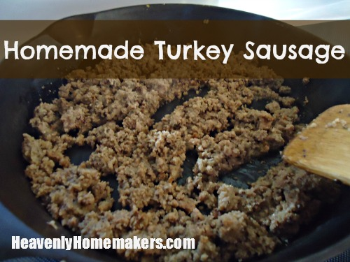 Homemade Turkey Sausage