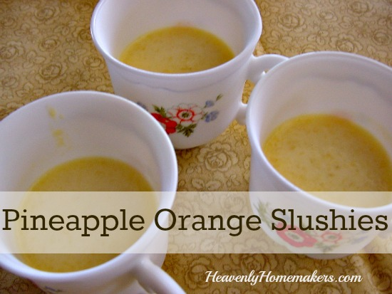 Pineapple Orange Slushies