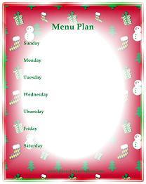 Weekly Dinner Menu Planner