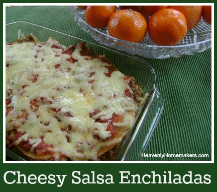 Cheesy Salsa Enchiladas
