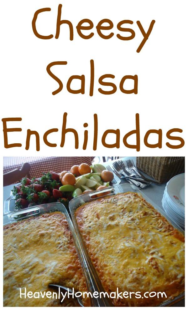 Cheesy Salsa Enchiladas