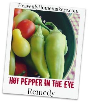 Hot Pepper in the Eye Remedy
