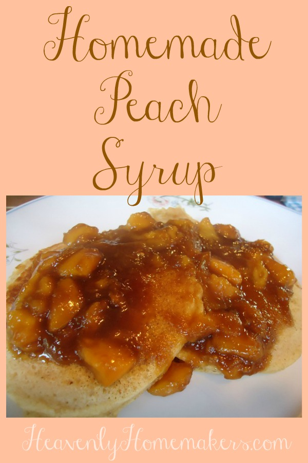Homemade Peach Syrup