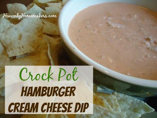 Crock Pot Hamburger Cream Cheese Dip