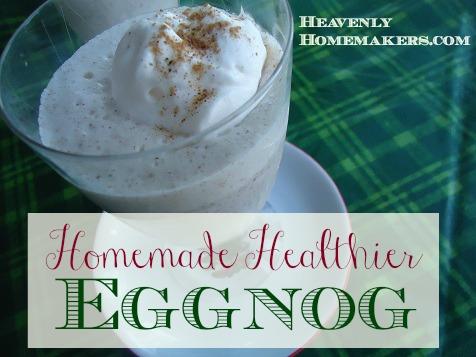 Homemade Healthier Eggnog