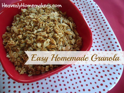Easy Homemade Granola | Heavenly Homemakers
