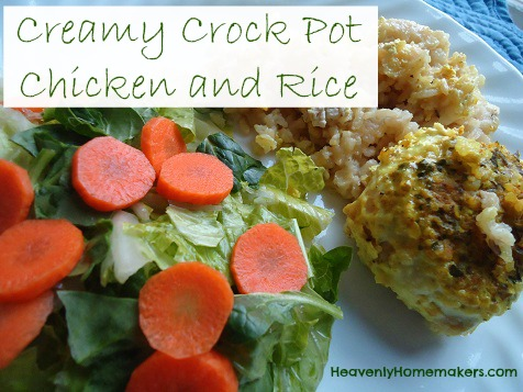 Creamy Crock Pot Chicken and Rice