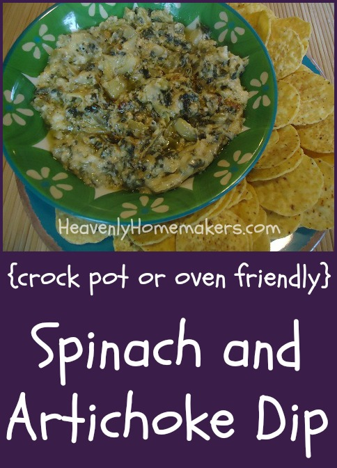 Crock Pot or Oven Friendly Spinach and Artichoke Dip