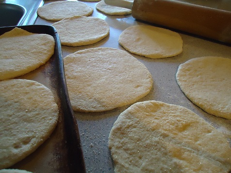 Once they have baked and cooled, I put them into freezer bags. I don ...