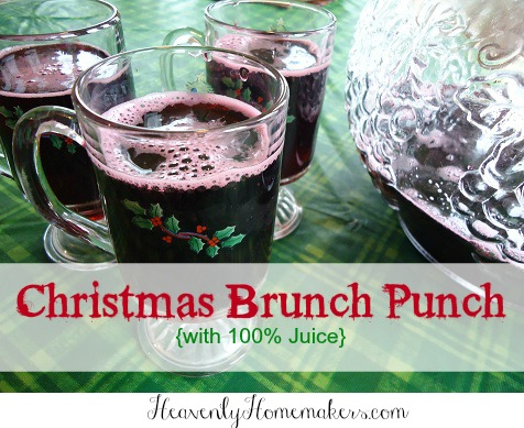 Christmas Brunch Punch {with 100 juice!}