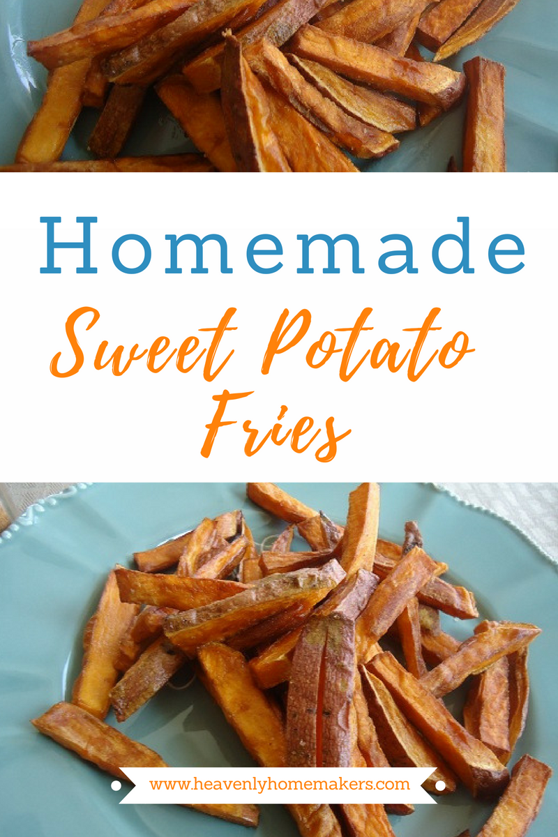 These Homemade Sweet Potato Fries are AMAZING! They are so easy to make, and incredibly delicious. #sweetpotatofries #homemadefries #sweetpotatofryrecipe