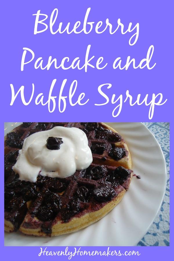 Blueberry Pancake and Waffle Syrup