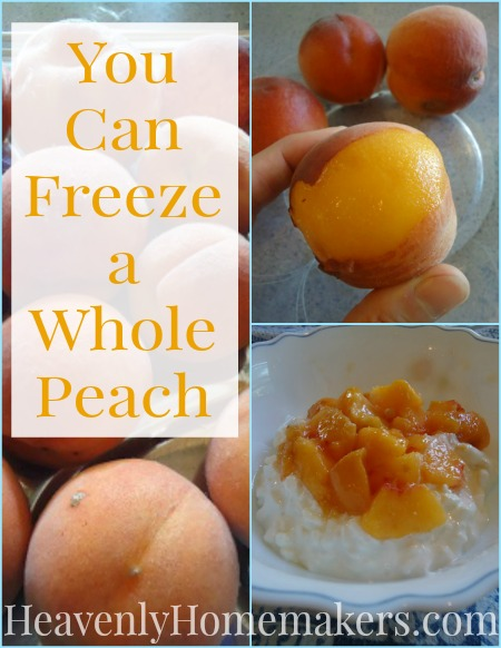 You Can Freeze a Whole Peach