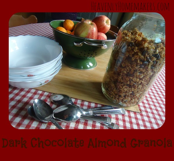 Dark Chocolate Almond Granola Recipe {Real Food Dollar Menu ...