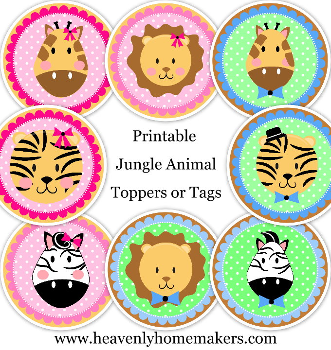 jungle animal toppers prev
