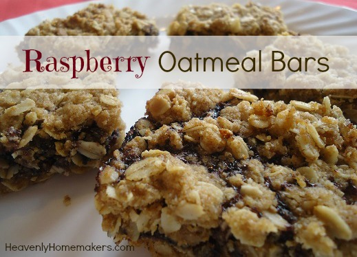 Raspberry Oatmeal Bars | Heavenly Homemakers