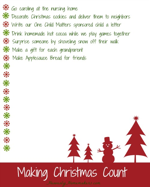 Making Christmas Count Ideas 2