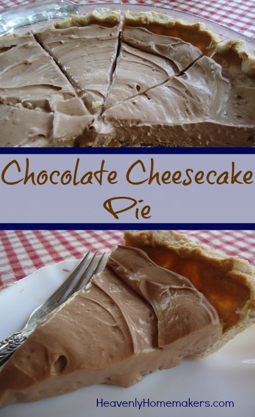 Chocolate Cheesecake Pie