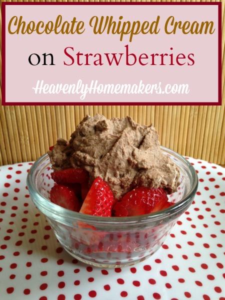 Chocolate Whipped Cream On Strawberries
