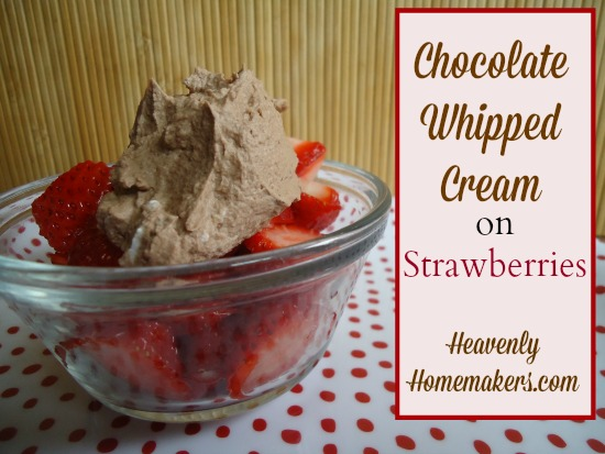 Chocolate Whipped Cream on Strawberries 2