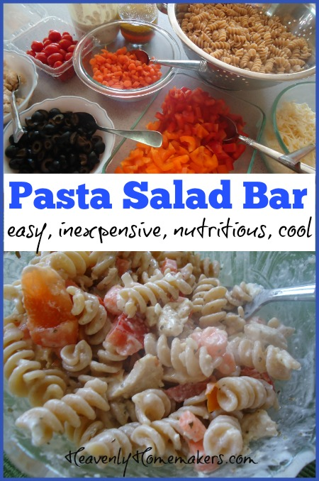 Pasta Salad Bar Easy Inexpensive Nutritious And Cool