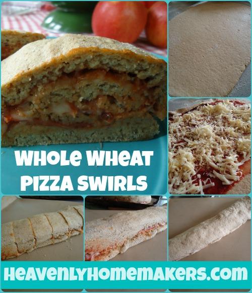 Whole Wheat Pizza Swirls