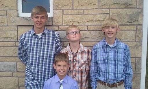 boys at wedding