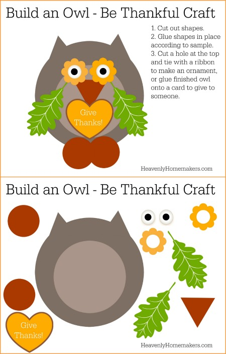 Be Thankful Owl Craft Share on Blog