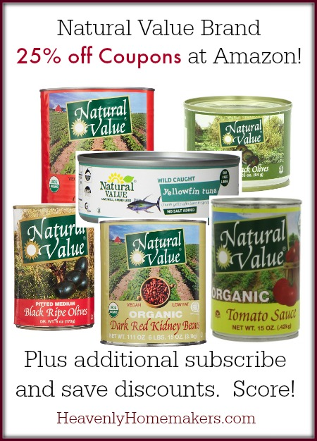 Natural Value Coupons at Amazon