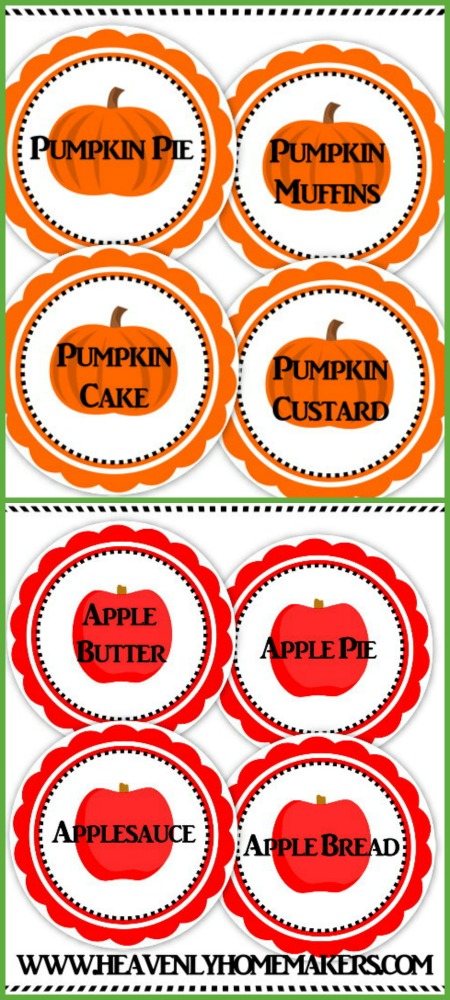 Pumpkin and Apple Stickers