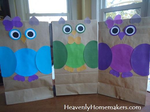 owl gift sacks