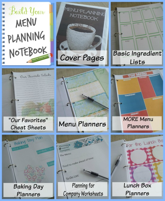 Step By Step - Build Your Own Menu Planning Notebook