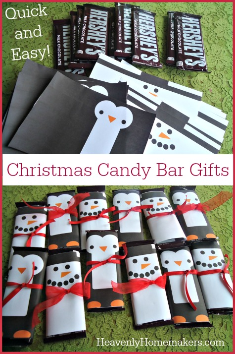 quick and easy christmas candy bar gifts homemade gifts for less than 5