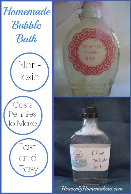 Homemade Bubble Bath for Pennies