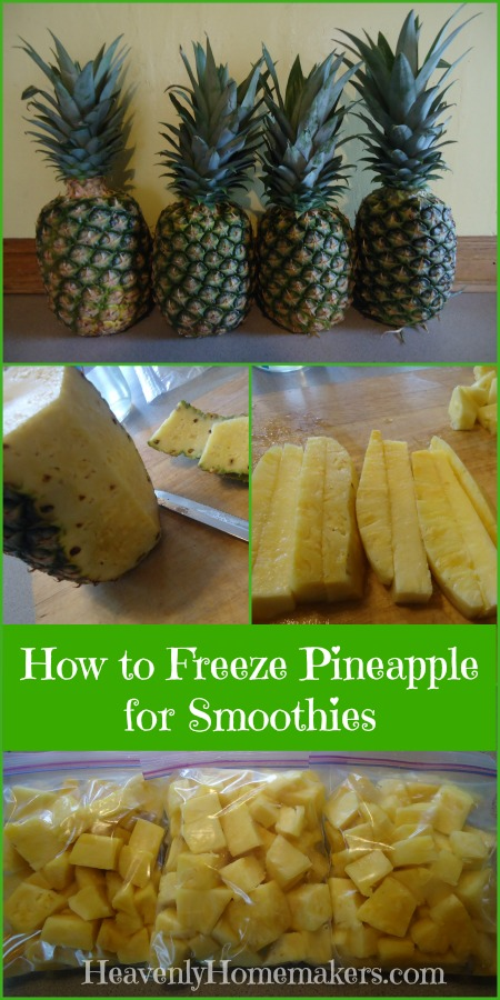 How to Freeze Pineapple for Smoothies