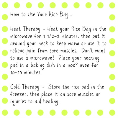 Rice Bag Gift Tag Instructions