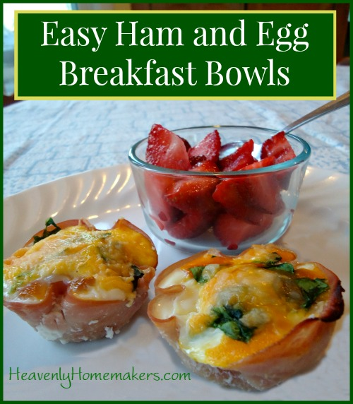 Easy Ham and Egg Breakfast Bowls