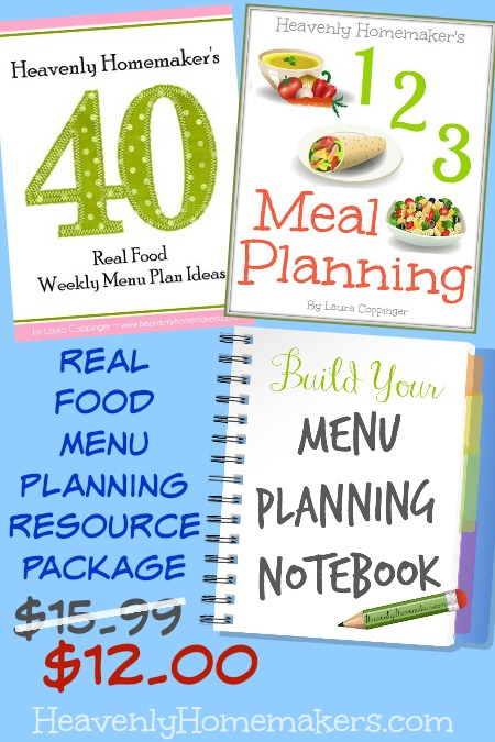 Real Food Menu Planning Resource Package 12