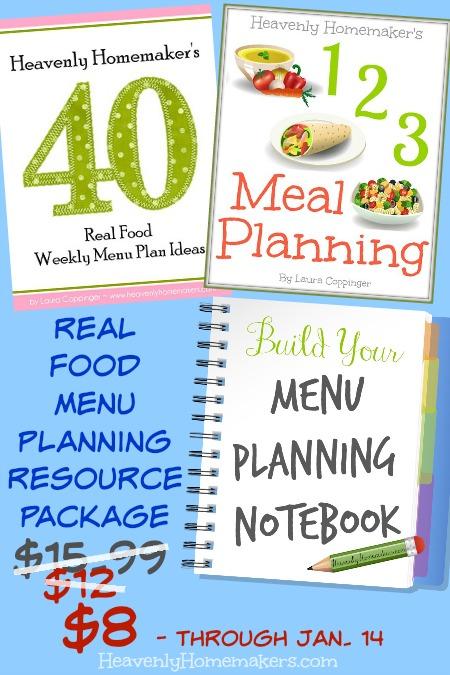 Real Food Menu Planning Resource Package - $8