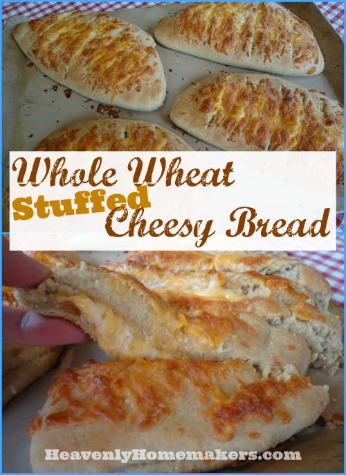 Whole Wheat Stuffed Cheesy Bread