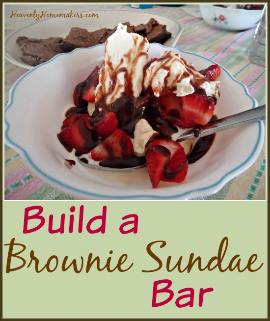 Build a Brownie Sundae Bar
