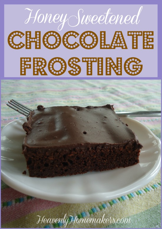 Honey Sweetened Chocolate Frosting