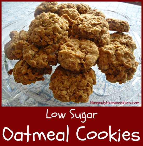 Low Sugar Oatmeal Cookies