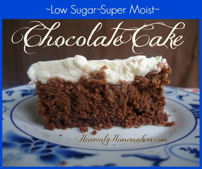 Low Sugar Super Moist Chocolate Cake