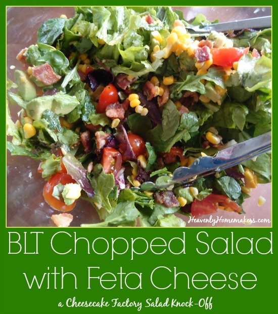 BLT Chopped Salad with Feta Cheese