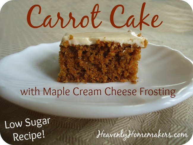 Low Sugar Carrot Cake With Maple Cream Cheese Frosting - Heavenly ...