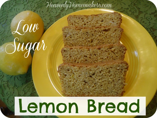 Low Sugar Lemon Bread