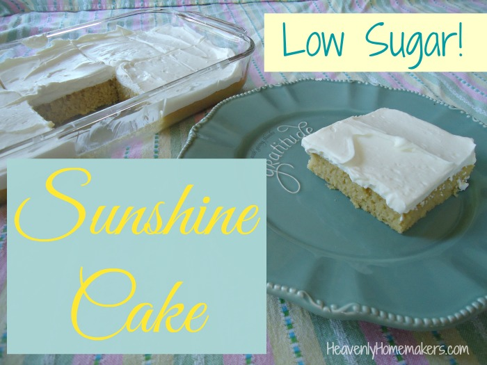 Low Sugar Sunshine Cake