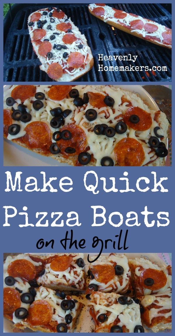 Make a Quick Meal of Pizza Boats - On the Grill!