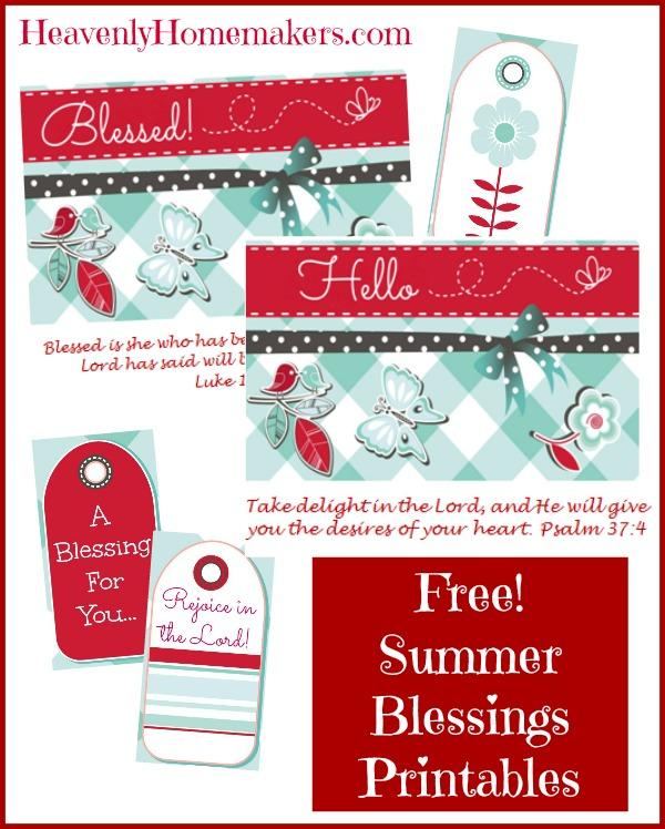 Summer Blessings Printables